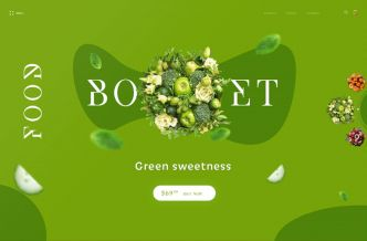 Food Bouquet Landing Page PSD Template