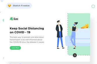 Keep Social Distancing COVID-19 Landing Page Template