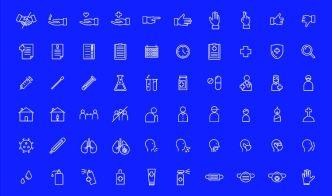 100 COVID-19 Emergency Icons
