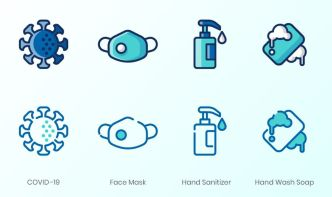 4 COVID-19 Icons (2 Styles)
