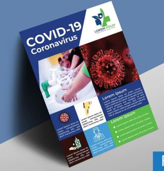 COVID-19 (Coronavirus) Flyer Template (AI & PSD)