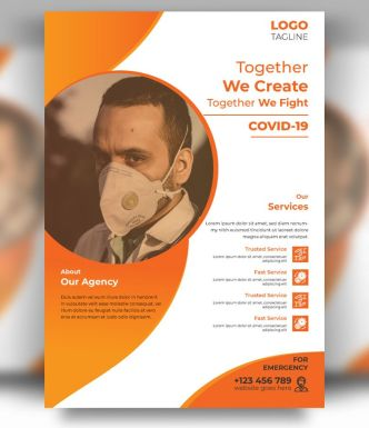 Coronavirus Awareness Flyer Template