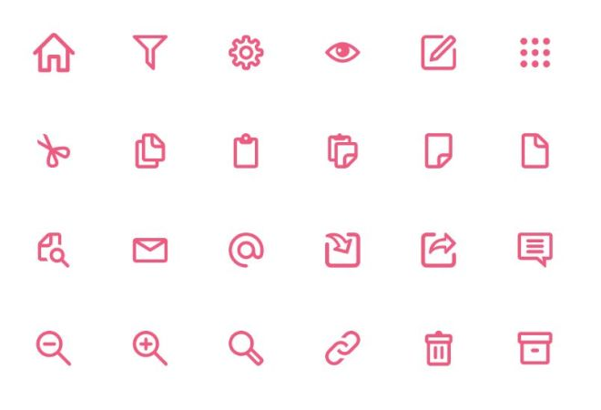 120 Essential Icons For Web App
