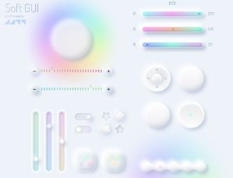 Colorful Neumorphic (Soft) GUI Kit For Figma