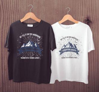 Realistic White Black T-shirt Design Vector