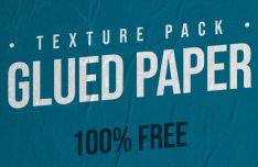 9 Glued Paper Textures