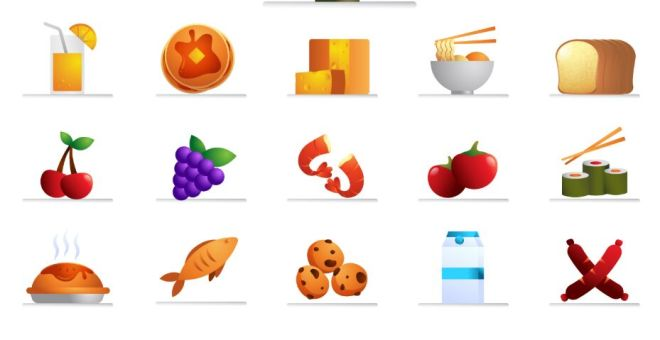 36 Food Icons In 4 Styles