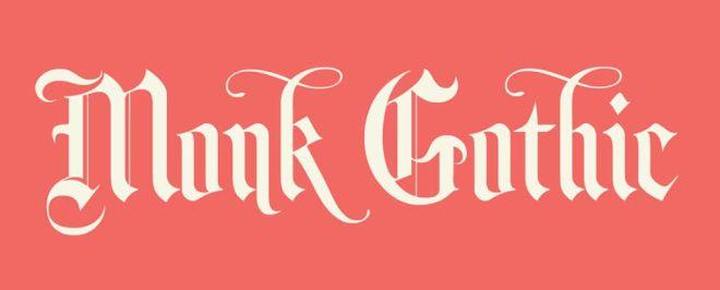 Monk Gothic Font