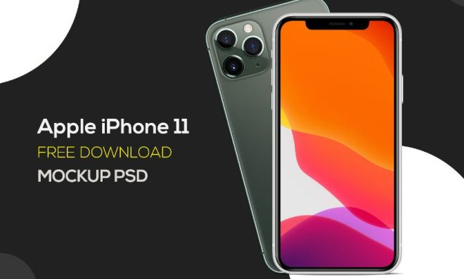 Editable High Solution iPhone 11 Pro PSD Mockup