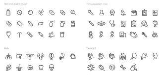 65 Medical & Pharma Vector Icons