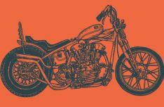 Custom Motorcycle Vector Template