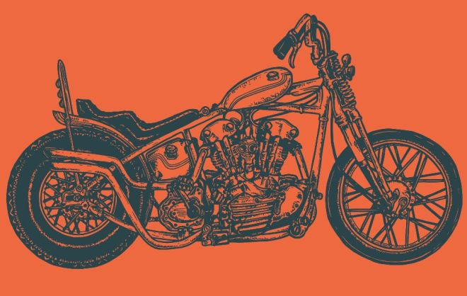 Custom Motorcycle Vector Template