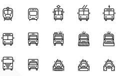 35 Transportation Icons Vector