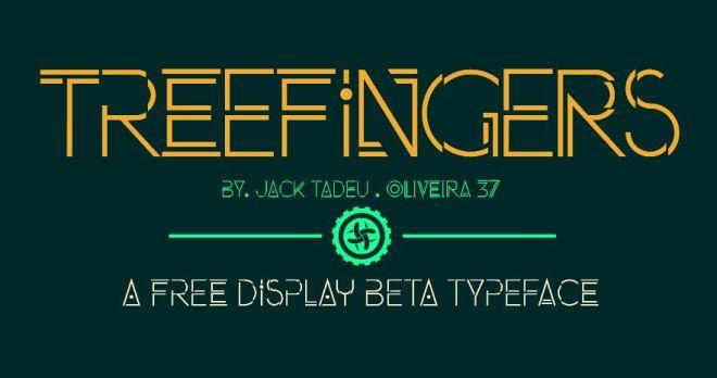 Treefingers Display Font