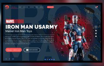 Iron Man Landing Page For Adobe XD