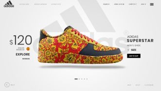 Adidas Landing Page Concept Template PSD