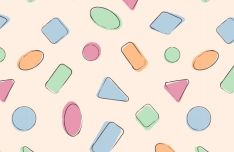 Handrawn Candy Pattern Vector