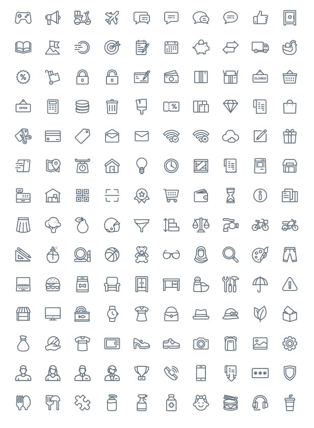 140 eCommerce Icons For Figma