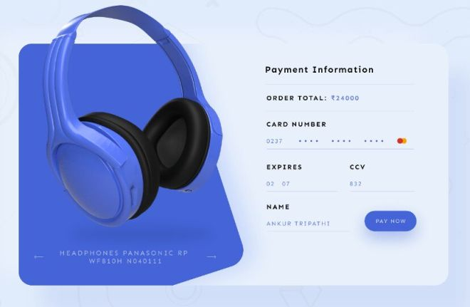 Credit Card Checkout Page Template For Adobe XD
