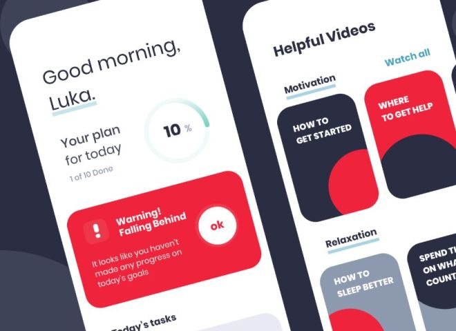 Daily Productivity App UI Design