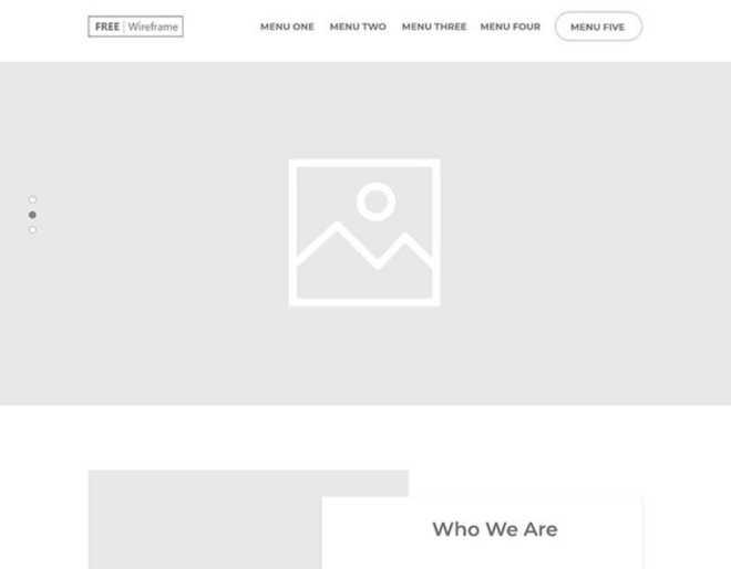 Minimal Company Website Wireframe For Adobe XD
