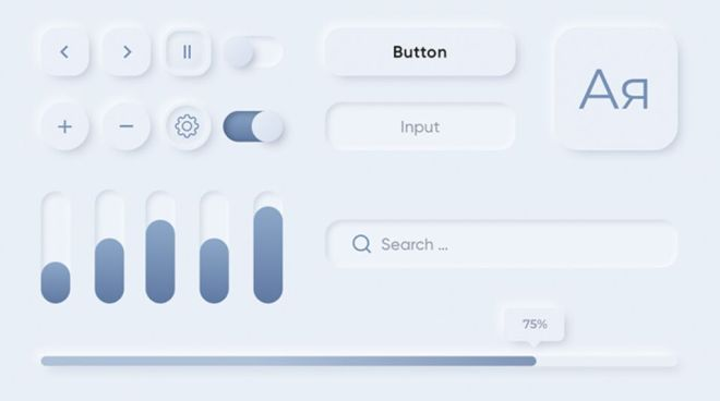 Clean Neumorphic UI Elements For Sketch