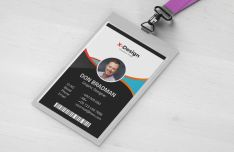 Print-ready Crporate ID Card Vector Template