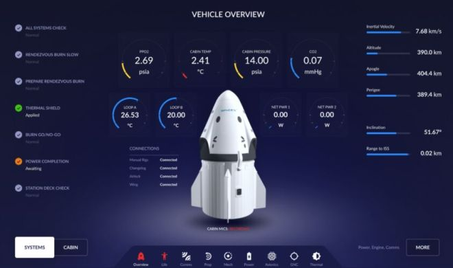 SpaceX Crew Dragon Flight Control Figma Template