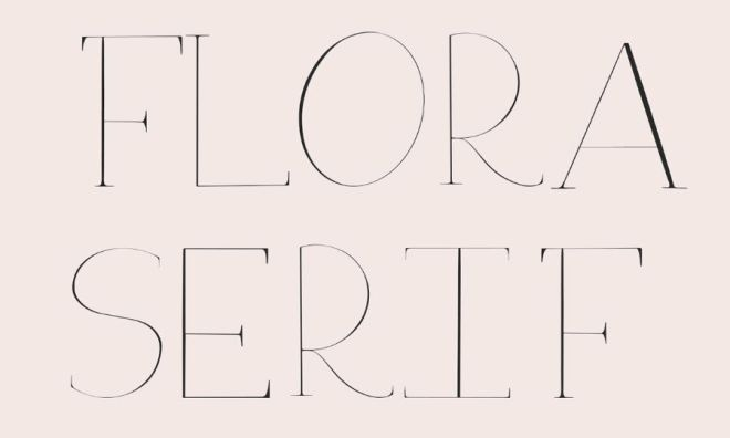 Modern Serif Display Font