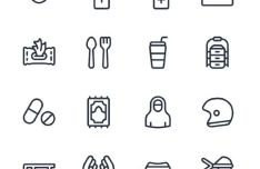 COVID-19 New Normal Icons Pack (Vector)