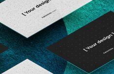 High Quality Isometric Business Card Mockup
