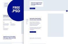 Minimalist Corporate Landing Page Template PSD