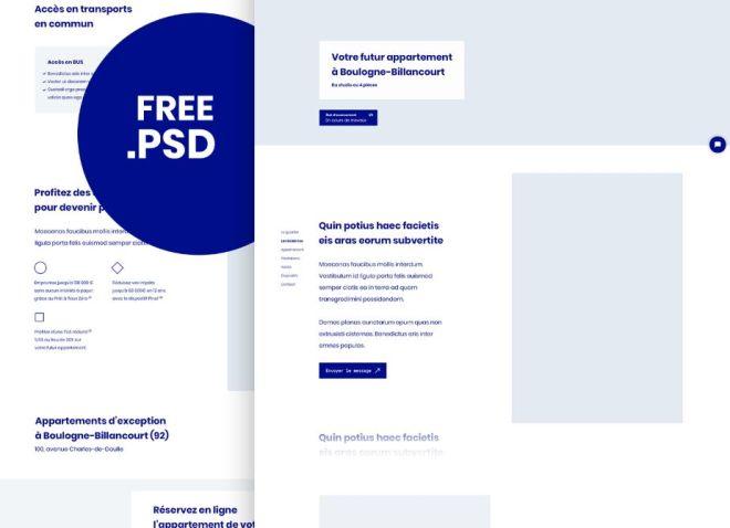 Minimalist Corporate Landing Page Template PSD