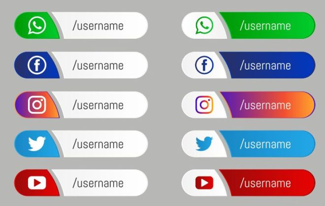 Social Media Labels Vector