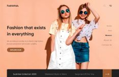 Fashion Modern Web Page Template Adobe XD
