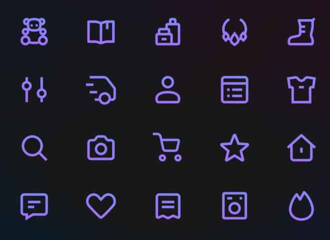 20 Gradient Icons For E-commerce (Sketch & SVG)