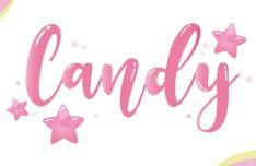 Candy Logo Vector Mockup