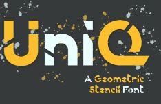 UniQ Geometric Font