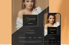 Gorgeous Fashion Flyer PSD Mockup