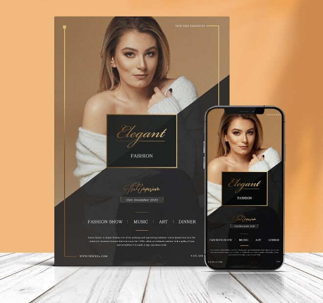 Gorgeous Fashion Poster PSD Mockup