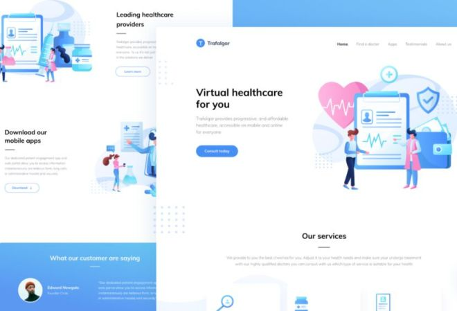 Healthcare Landing Page Template Figma