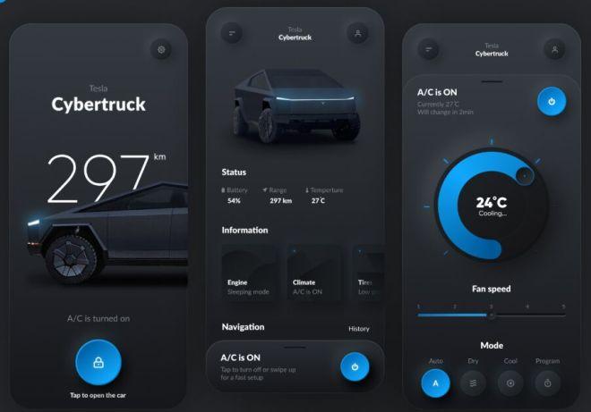 Tesla Smart App UI For Figma