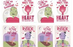 Zombie Valentine's Cards PDF