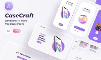 CaseCraft Landing Page Kit For Adobe XD