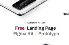 HUAWEI P40 Pro+ Landing Page Figma Template