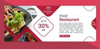 3 Restaurant Food Web Banner Templates PSD