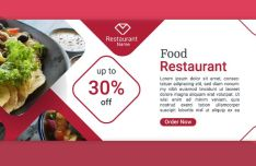 3 Restaurant Food Web Banner Templates PSD