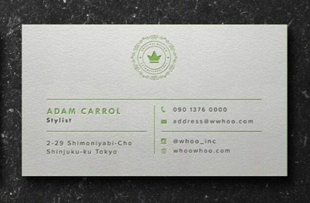 Letterpress Business Card PSD Template