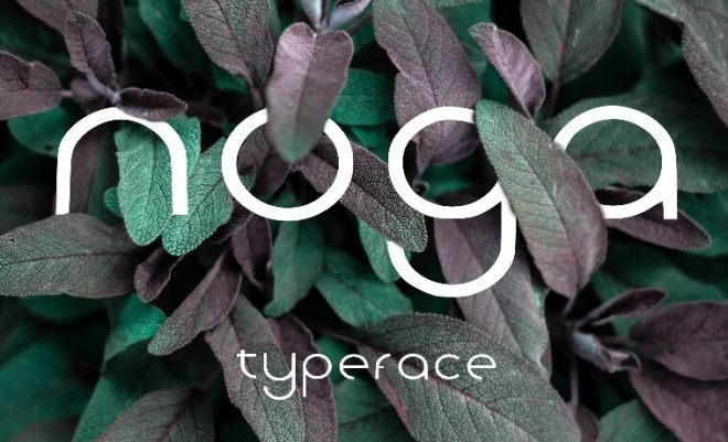 Noga Display Typeface