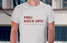 Realistic T-Shirt Mockup Boy Model Mockup